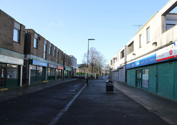 Newbiggin Hall empty shops